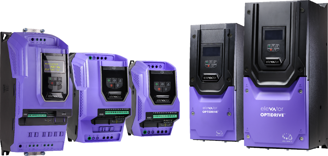 Optidrive Elevator variable frequency drive powers new Traction Controller